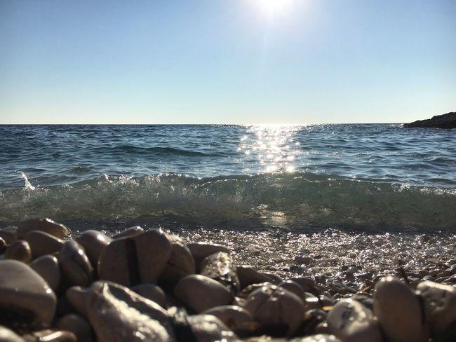 Sea Sea And Sky Seaside Sea Close-up Wave Sparkle Brilliant Colors Sun Sun Shining No People Pebble Summer EyeEm Nature Lover EyEmNewHere