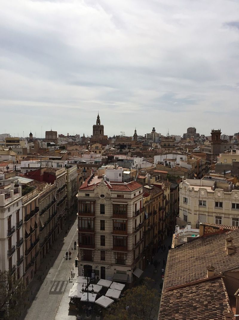 Architecture Built Structure Building Exterior City Sky High Angle View Cityscape Cloud - Sky Outdoors Day No People Valencia, Spain View From Above Roofs Travel Destinations Torres De Serranos SPAIN