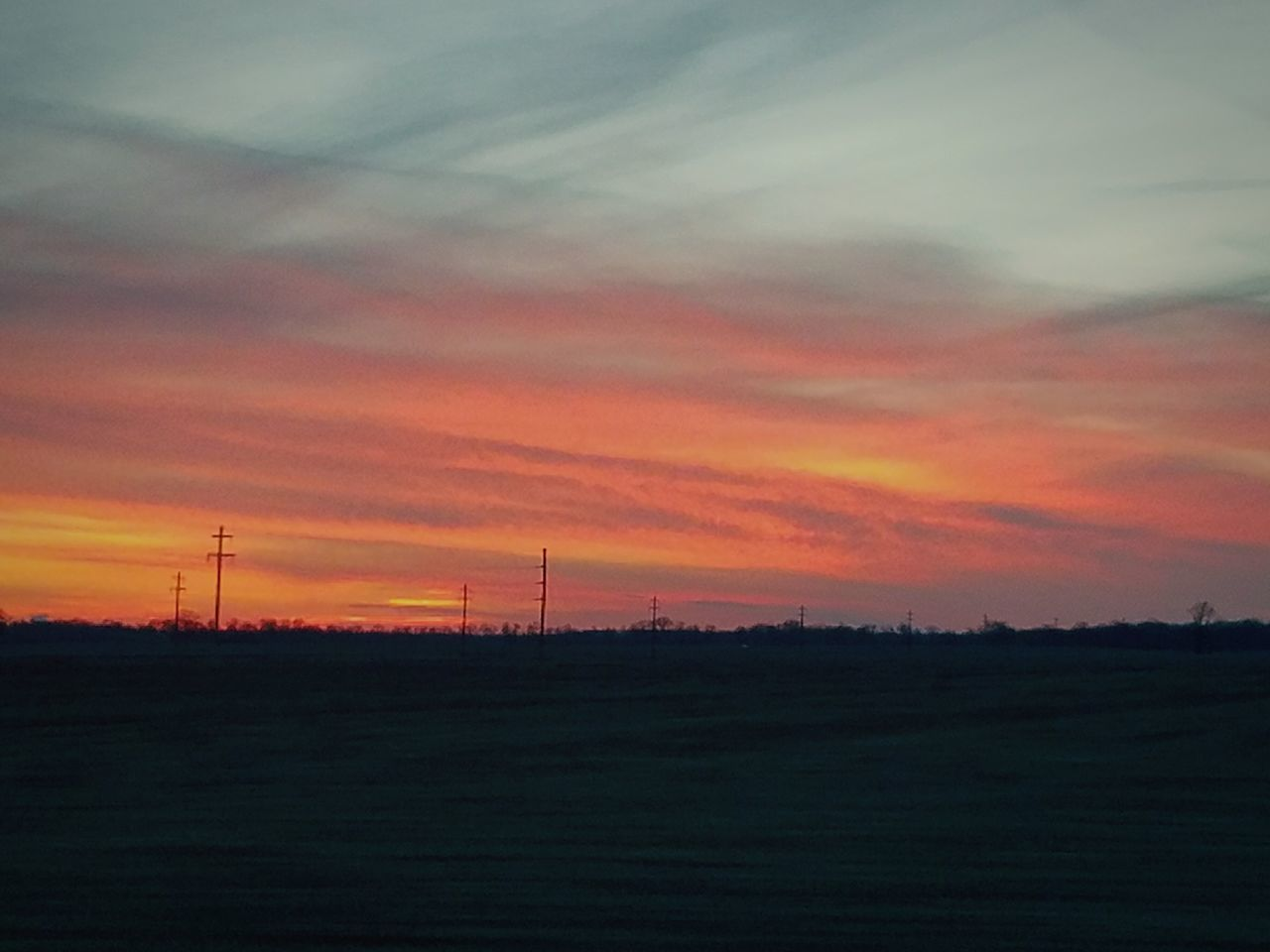 sunset, nature, sky, no people, landscape, tranquility, scenics, cloud - sky, beauty in nature, field, fuel and power generation, tranquil scene, outdoors, silhouette, wind power, alternative energy, wind turbine, electricity pylon, rural scene, technology, tree, windmill, day, industrial windmill