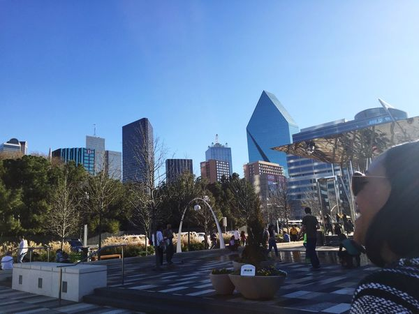 A downtown afternoon Dallas Texas
