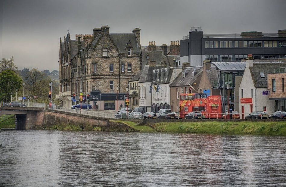 Inverness landscape before thunderstorm, Scotland Architecture Bigbus Building Exterior Built Structure City Cityscape Cloud - Sky Day House Inverness No People Old Buildings Outdoors Politics Residential Building River Scotland Sightseeing Sky Tourbus Travel Destinations Tree Uk Water
