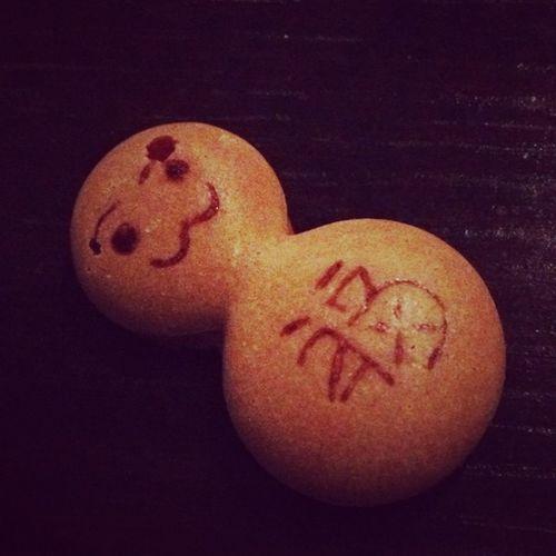 コーヒーについてるクッキー。福雪だるま。めんこい♪