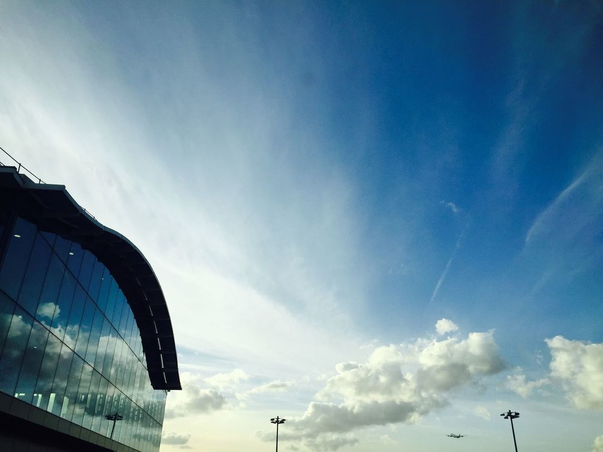 Blue Sky Refections Of Clouds Up Up And Away Heathrow Terminal 5 Modern Architecture