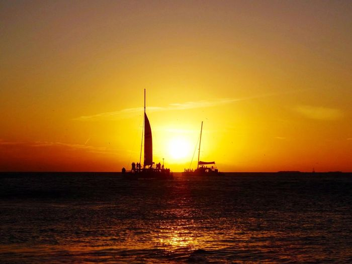 Sunset Mallory Square Key West Florida Catamaran Boats Summer First Eyeem Photo