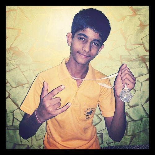 Bhai Relayrace Second Silvermedal mera milkha singhhurrraaayyy...!!!! :-D