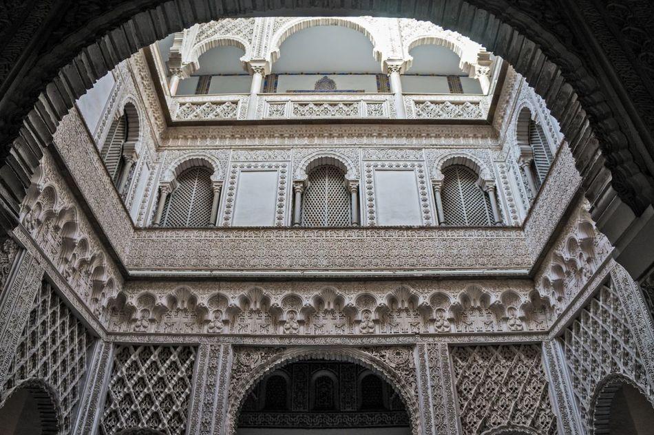 Sevilla Seville Architecture Alcazar Mudéjar Arabic España Lookingup ArtWork