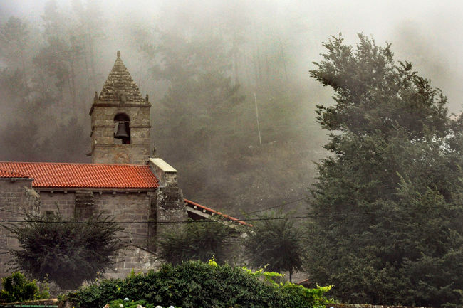 Architecture Beauty In Nature Church Day Fog Fog_collection Foggy Day Nature No People Outdoors Plant Sky Snowing SPAIN Tranquility Tree Winter