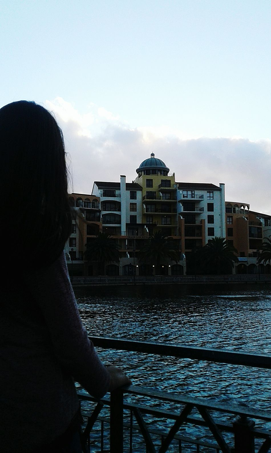 With my sister, shopping 😒 City One Person Built Structure Water Cloud - Sky Architecture Noob Inexperienced Outdoors River Mall