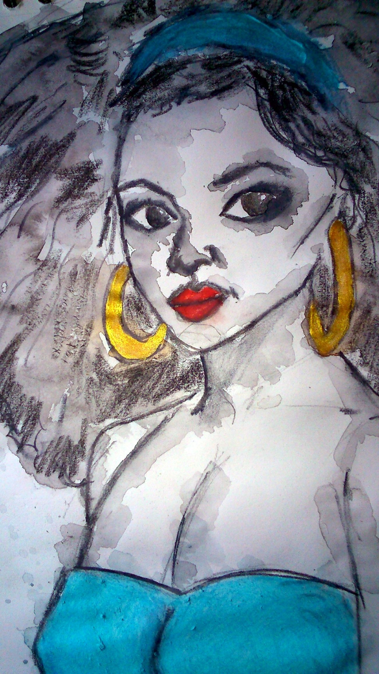 One Woman Only Close-up Beauty One Person Drawing - Activity Drawing - Art Product Art And Craft Textured  Human Representation Multi Colored Human Body Part Watercolor Painting Fragility Freshness Artistic Young Adult