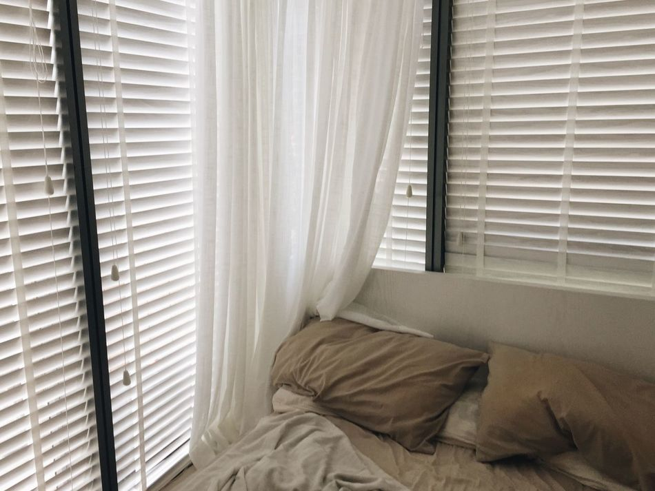 Curtain Bedroom Bed Window Drapes  Indoors  Blinds Home Interior Day IPhoneography Iphoneonly Close-up