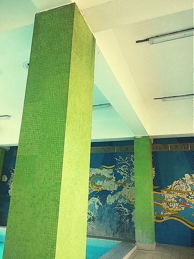 Green Green Color Column Columns Columnsseries Swimming Pool Swimmingpool Swimmingpools Swimmingpool💕