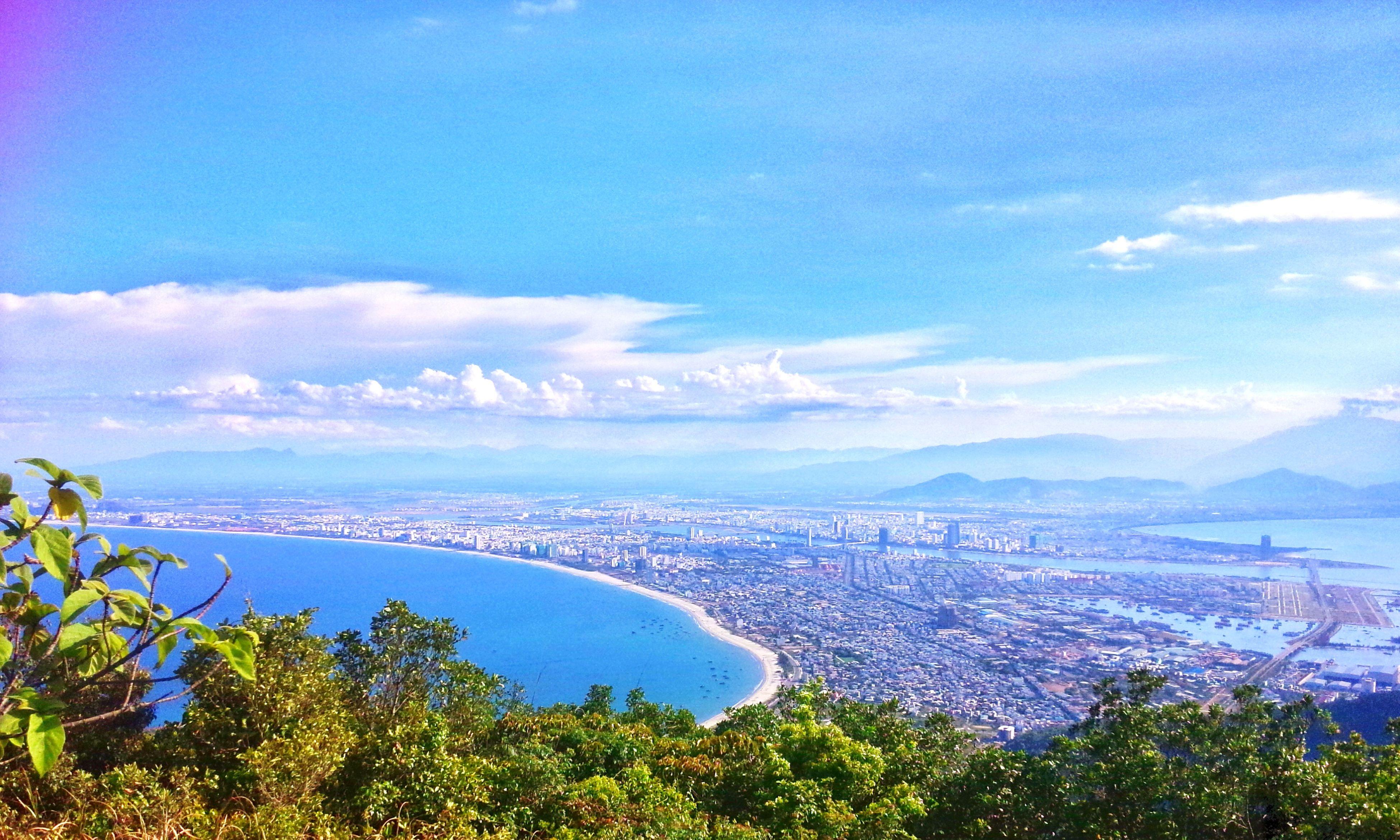 Battle Of The Cities Son Tra's Peninsula Da Nang, Vietnam Da Nang From High Coastline Beauty In Nature My Best Photo 2016😊