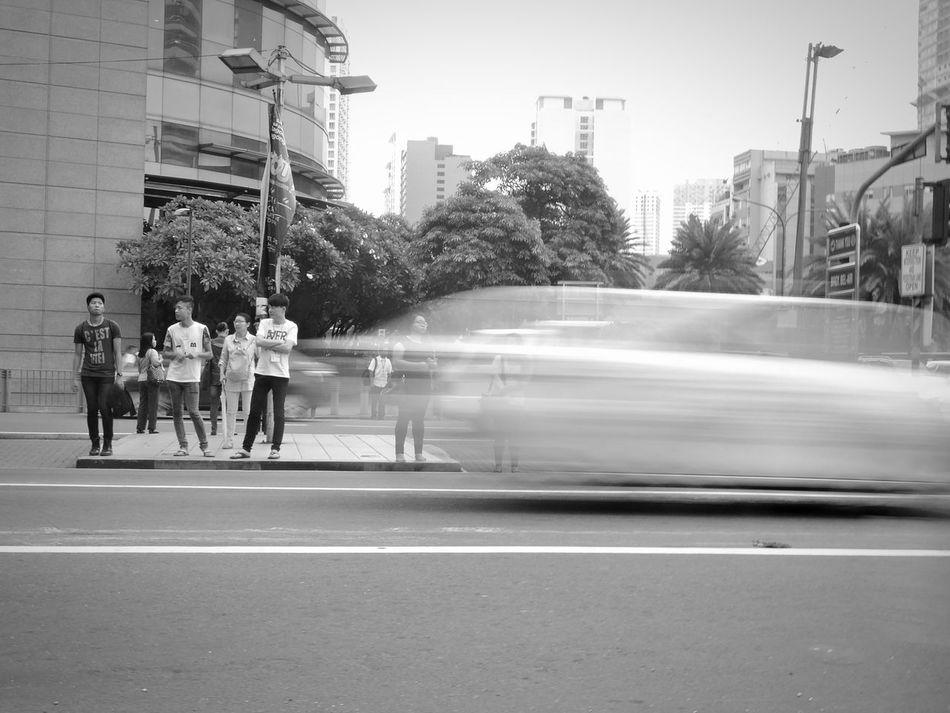 Speed Waiting Pedestrian Stop Go Speed Shutter Everyday Life Street Life Eyeem Philippines Ayala Black And White Photography Street Photography Showcase July