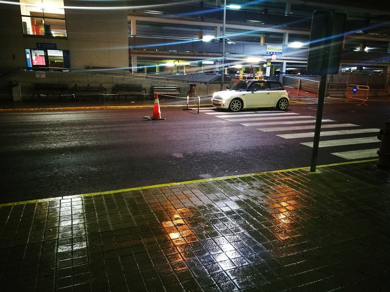 Night Lights Illuminated Transportation Car City Wet Road Night Travel Destinations Outdoors Architecture No People HuaweiP9