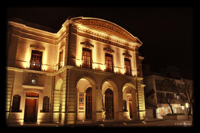 Fotografía nocturna del teatro Morelos de Aguascalientes Arquitectura Aguascalientes Nikon Nocturna