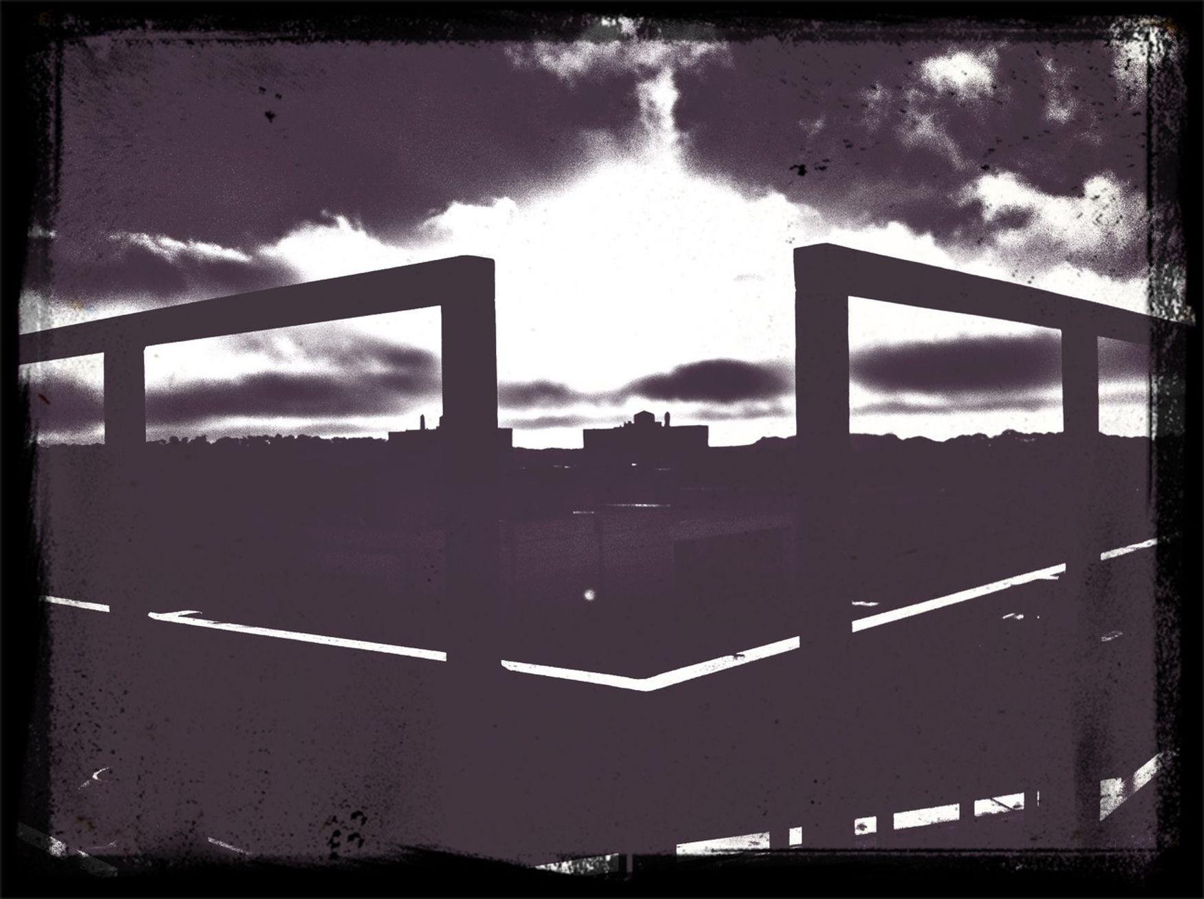Black & White Sunset Clouds
