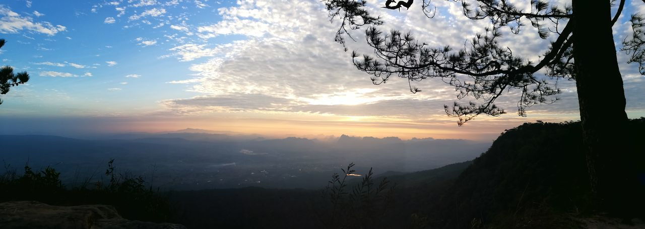 Sunset Sky Landscape Nature Natural Parkland Travel ภูกระดึง Freshness