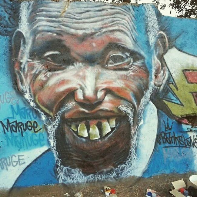 Power of art graffiti guru cc@bankslave 8town Mytownmycity R.I.P_KIMANI MARUGE