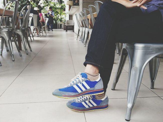 Adidas 70's SL 72 on Matt's feet