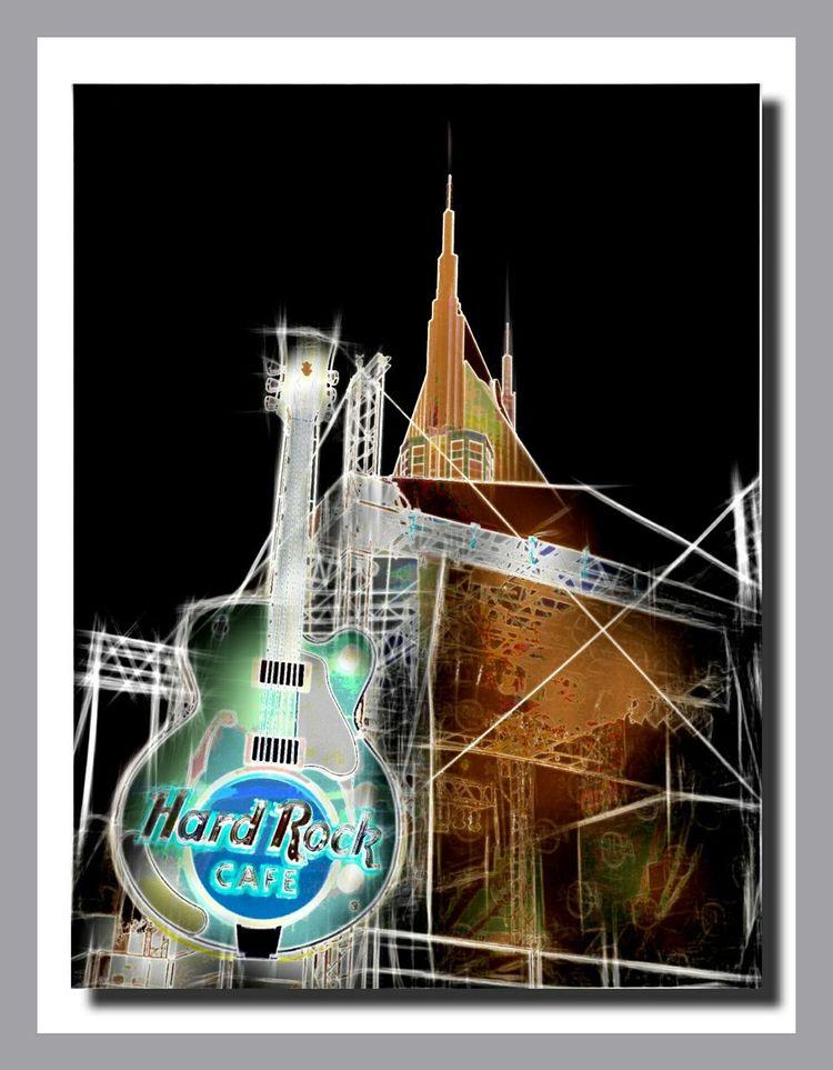 Nashville Countrymusicfest Art Tennessee Countrymusic  Downtownnashville Hardrockcafe ArtWork Guitar