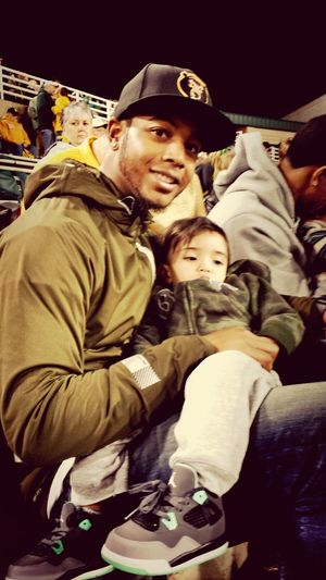 Me and Orion at the Baylor game last night