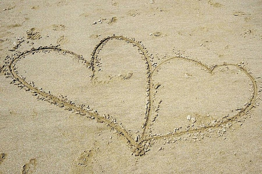 Two hearts in the sand Sand Barryisland WhitmoreBay Love Hearts ❤❤