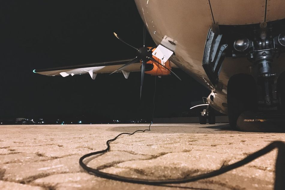 Wired toy Skill  Performance Night Outdoors Nightphotography Leisure Activity Mode Of Transport Transportation Aircraft Communication Job Airfield Airport