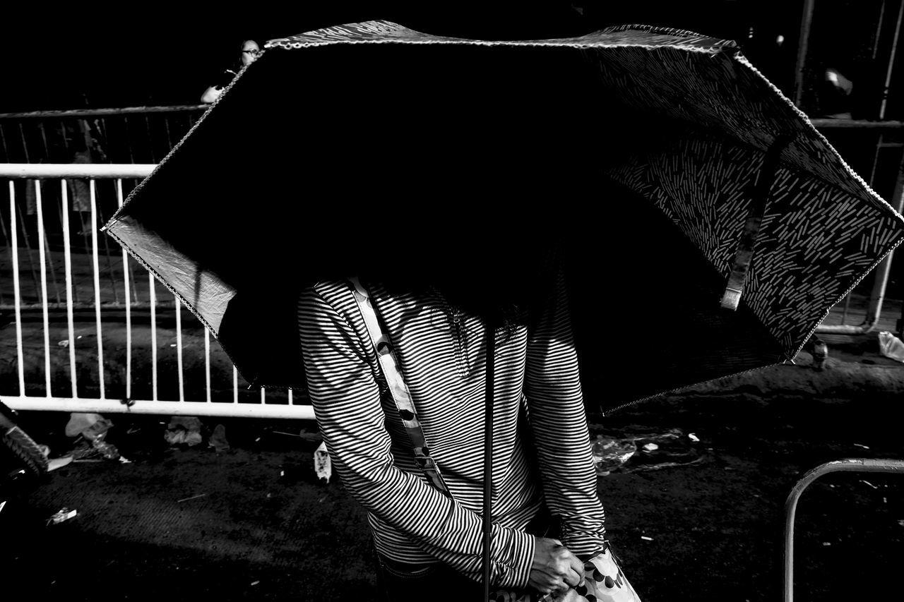 Fujifilm X-Pro2 XF18mmF2R. July 2016. Street Photography Eyeem Philippines Philippines Fujifilm X-pro2 XF18mmF2.0 Light And Shadow Cagayan De Oro City Fujifilm_xseries Xf18mm Monochrome Shadows Umbrella Monochrome Photography