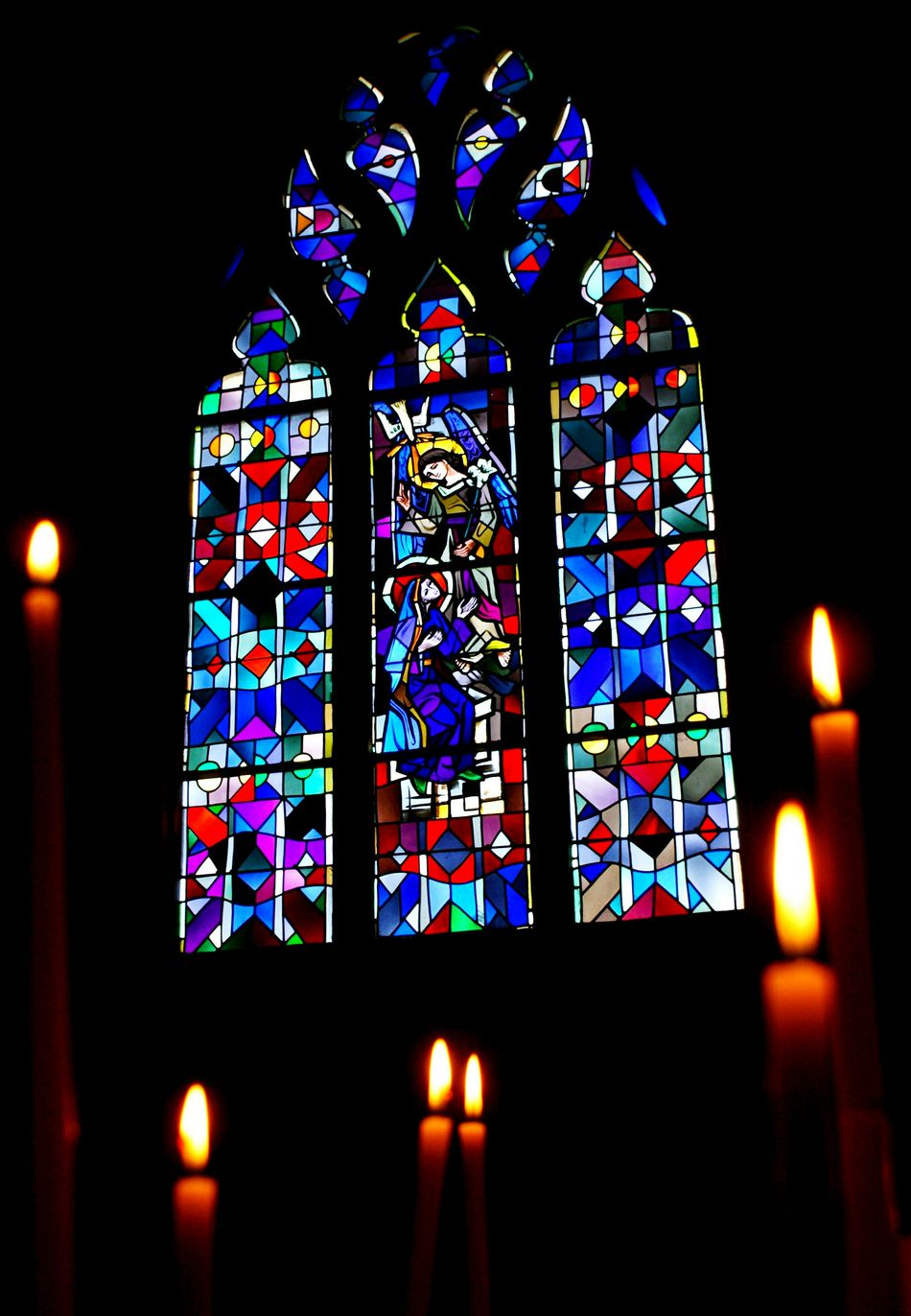 Church Catholic Church Vitrail Vitraux Saint Michel Cierges Religion Beautifully Organized