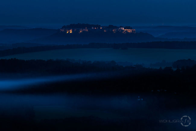 Fortress Königstein Sachsen Hanging Out Taking Photos Check This Out Landscape #Nature #photography Outdoors Nightphotography From My Point Of View Mystical Place Mystical Landscape Long Exposure Landscape_photography Old Castle Eye4photography  Outside Photography Fog Foggy Night