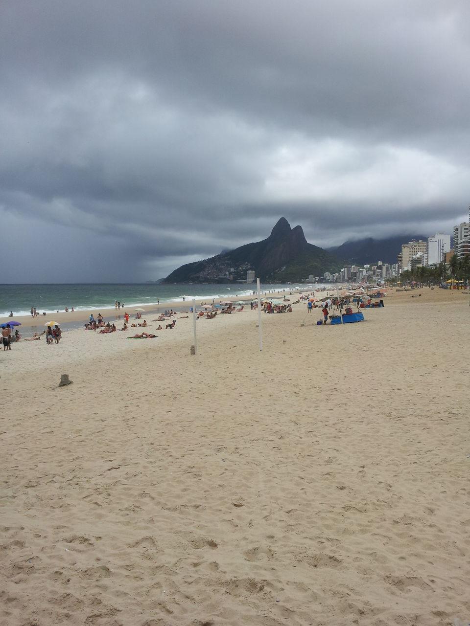 Landscape of sandy beach