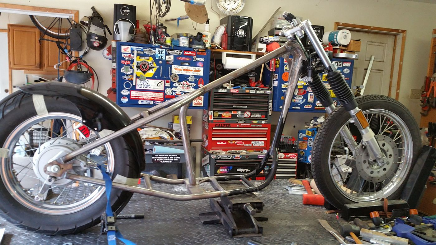 Motorcycle Frame Custom Fabrication Hardtail