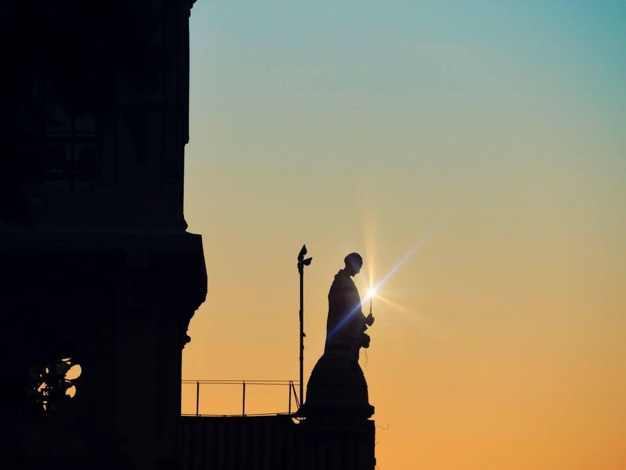 Mine silhuettes Silhouette One Man Only Sunset Beauty In Nature Magic Moments Magic Wand Monk  Person Silhouette Magic Light Magic Backgrounds Church Architecture Church Statue Statue Silhouette Silhouettes Of Sunset Religious  Religion Religious Art Religious Icons Religious Place Religious Statues