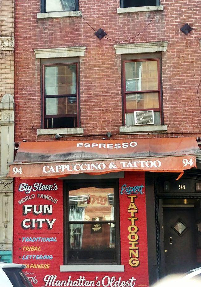 The Best Of New York Tattooshop FUN CITY Cappuccino