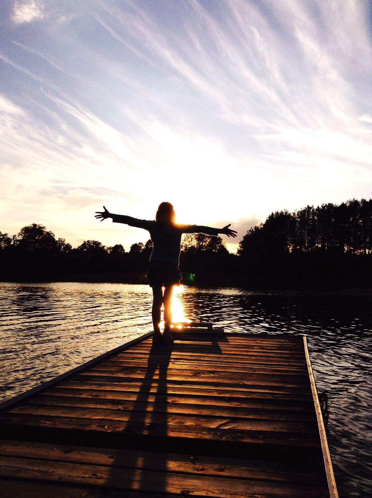 My little sister Love Sister ❤ Summer Evening Evening Sky Sky Collection Lake The Traveler - 2015 EyeEm Awards