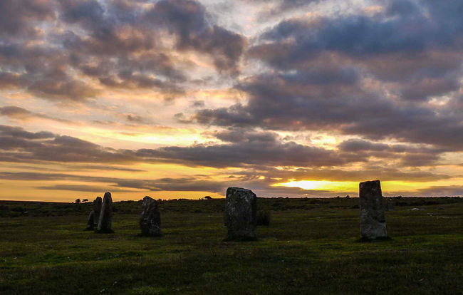sunset over the Hurlers on Bodmin Moor Hanging Out Taking Photos Check This Out Sunset Sky And Clouds Views Cornwall Scenic No People Landscape Beauty In Everything EyeEm Nature Lover Beauty In Nature Nature Summertime AMPt_community For My Friends That Connect Sun Light The Hurlers