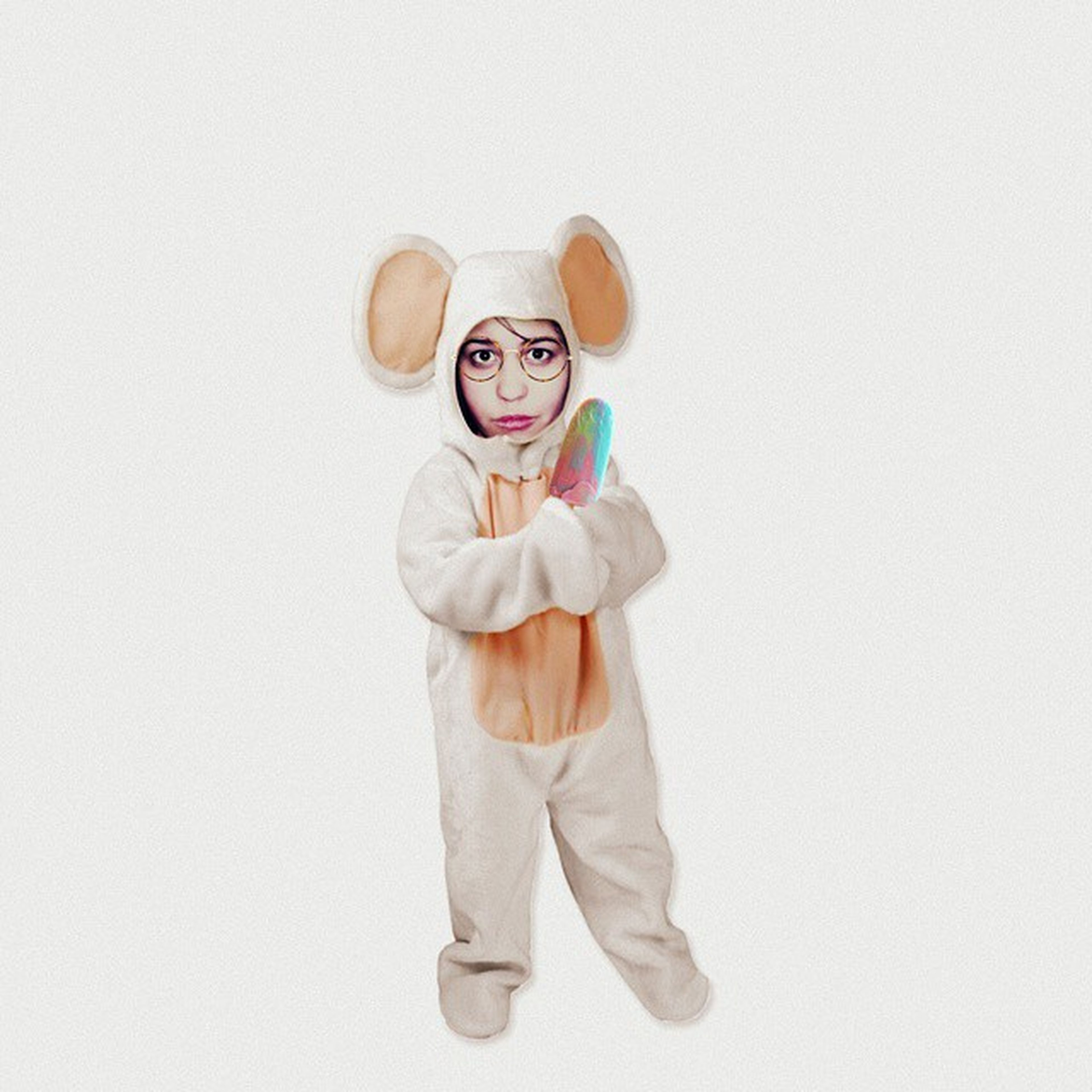 childhood, white background, indoors, studio shot, copy space, holding, casual clothing, lifestyles, leisure activity, white color, front view, elementary age, food and drink, innocence, standing, wall - building feature, toy, waist up