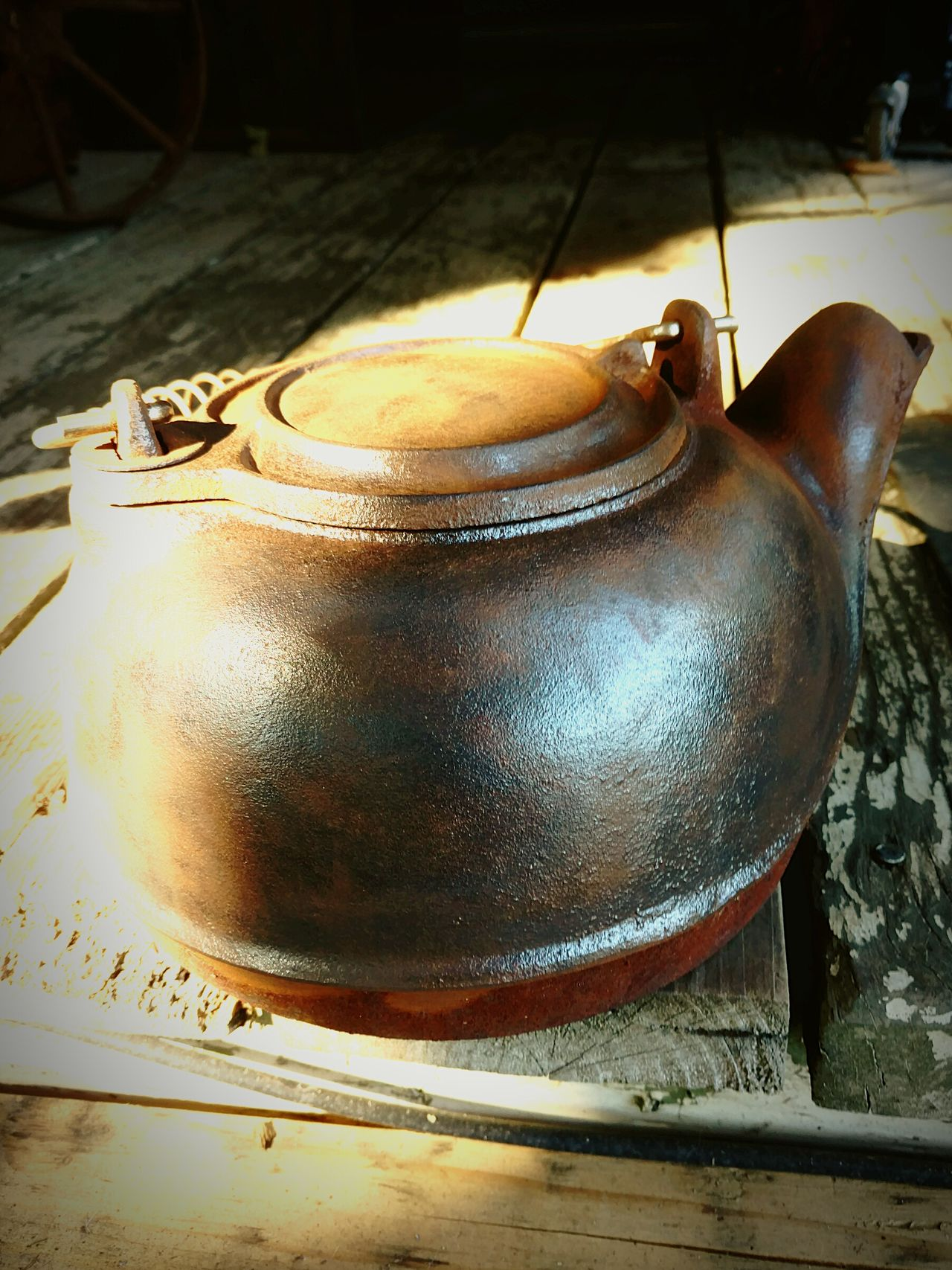 Lieblingsteil Teapot Kettle Tea Kettle Rusty Gold Trash Is Treasured