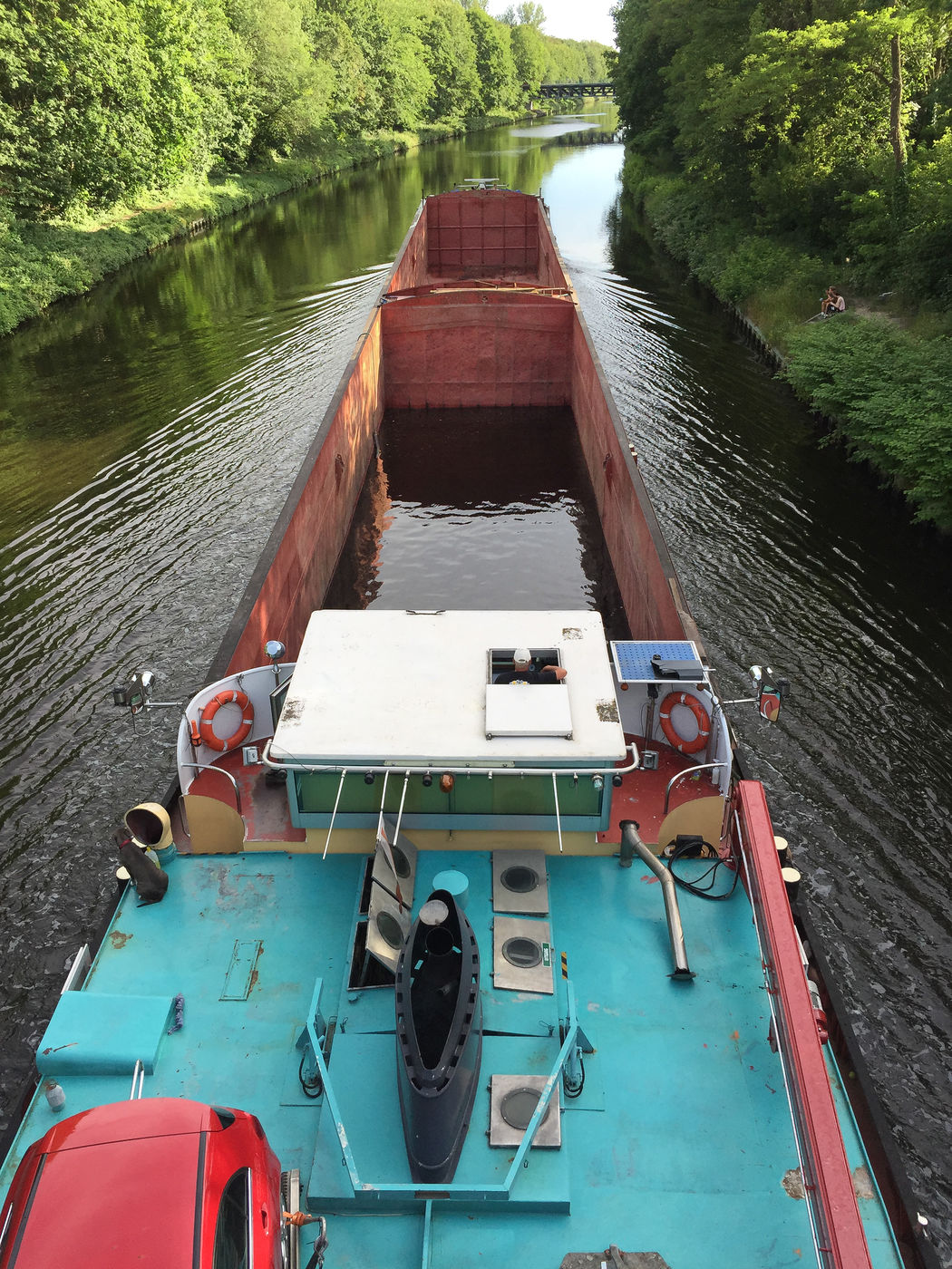 river barge in motion Barge Berlin Canal Canals And Waterways Car Dog Green Green Leaves In Motion Inland Water Vessel Nature Nature Nautical Vessel No People Outdoors River Barge Teltow Teltow Kanal Teltowkanal Transportation Trees Water Water Reflections Water Vessel Waterway