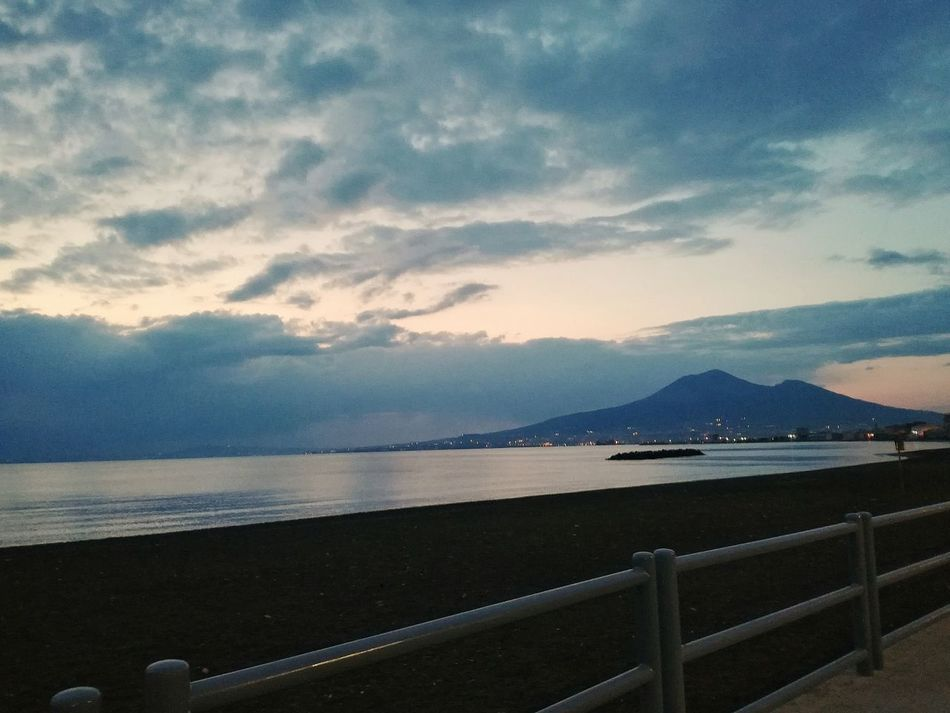 Mountain Water Nature Sea No People Outdoors Scenics Tranquility Cloud - Sky Sky Beauty In Nature Mountain Range Sunset Day Naples, Naples, Italy Italy🇮🇹 Napoli Castellammare Di Stabia Horizon Over Water Beauty In Nature Vesuvio