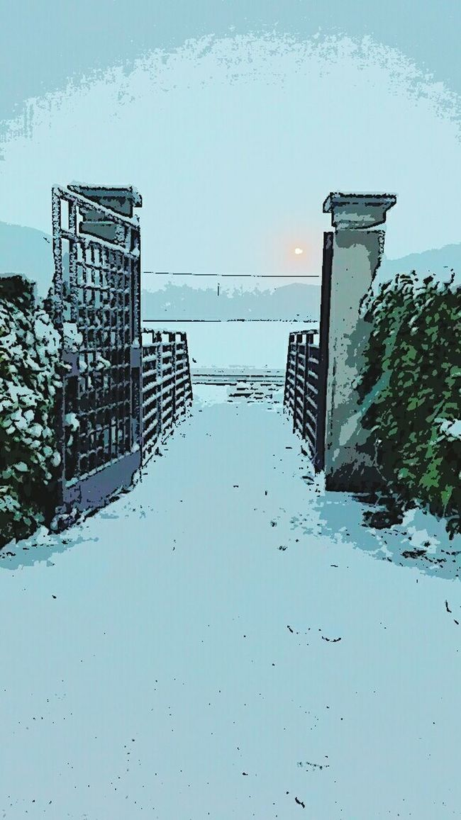 My home entrance. Entrance Home Entrance My House Sky Snow Snowing Day Snowing Again Magic Colors Taking Photos Relaxing Country Life Country Road Italy Wednesday Afternoon Late Afternoon EyeEm Gallery EyeEm Team Eye4photography  EyeEm Masterclass
