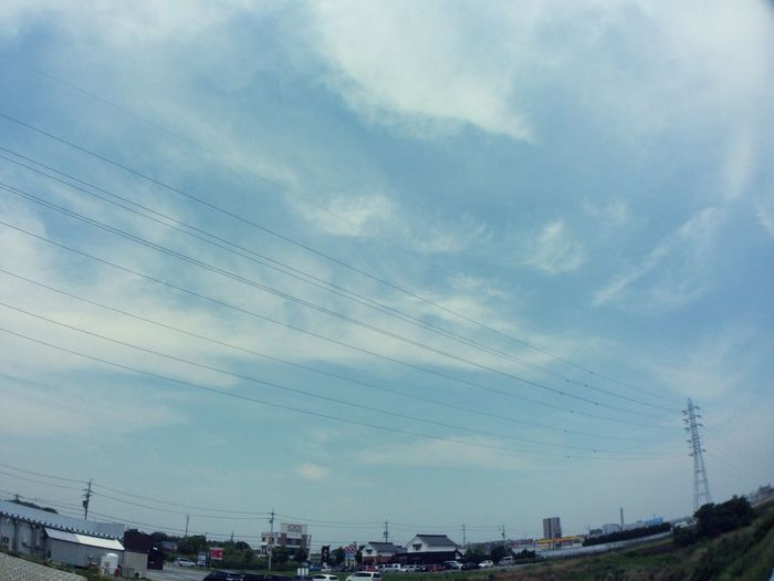 青空 Blue Sky 空 Sky 鉄塔 Steel Tower  Pylon 電線 Electric Wire