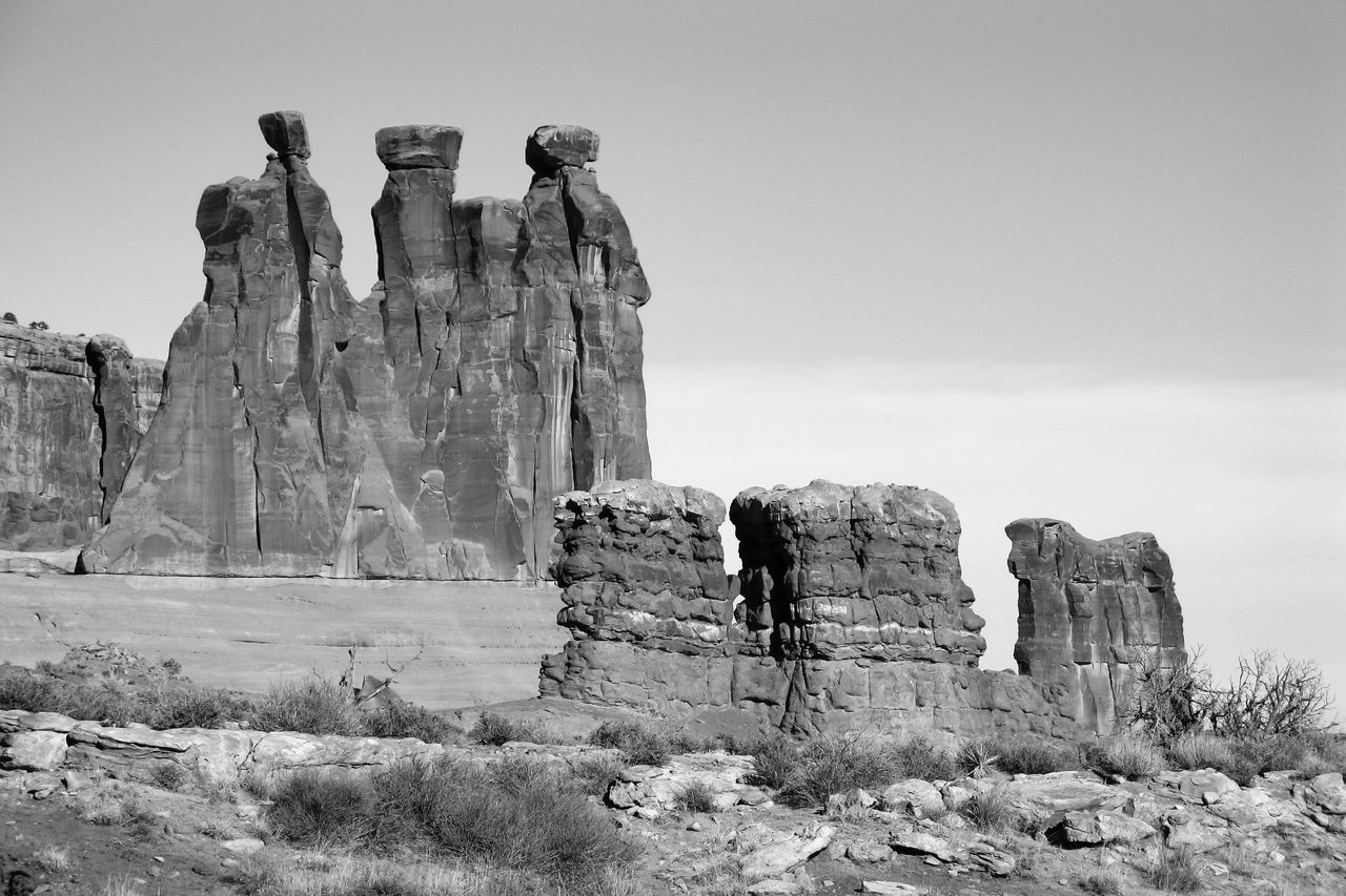 Three Gossips Arches National Park Arches National Park, Utah Black & White Black And White Black And White Photography Black&white Eroded Geological Formation Geological Formations Grayscale Greyscale National Parks Old West  Physical Geography Rock Formation Rock Formations Rocky Landscape Rocky Mountains Sandstone Sandstone Rocks Scenic Landscape The Old West USA Western USA Wind Erosion