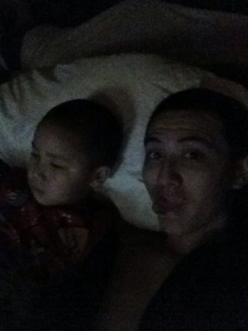 Watching Christmas movies last night wit this lil man right here.