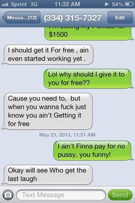 Hoes tryna charge me for pussy lmaoooo, she sound stupid af👎👎👎 in Minneapolis by Molly world