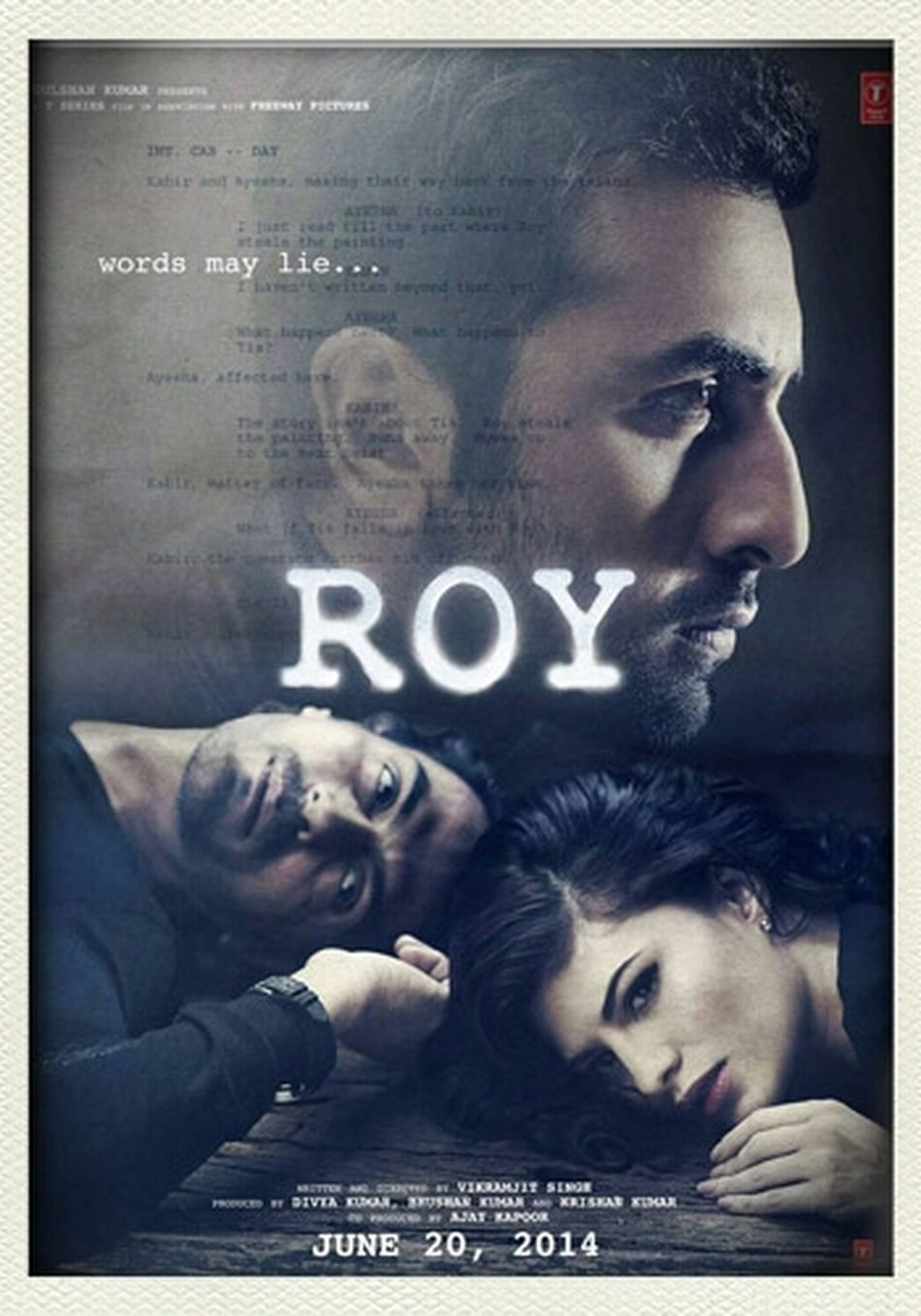 Ranbir Kapoor his upcoming film ROY. best of luck!