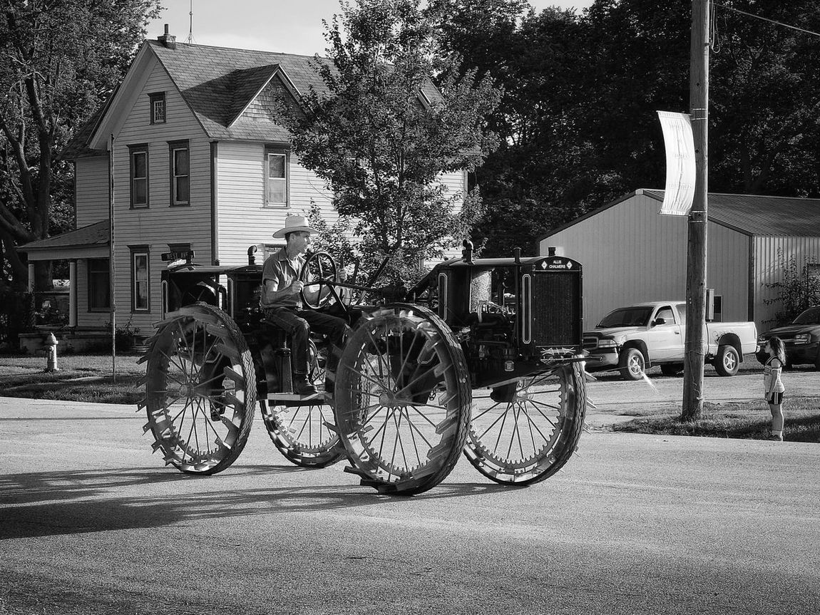 Parade 2016 Old Settlers Picnic Village of Western, Nebraska A Day In The Life Antique Celebration Community History Land Vehicle Main Street USA Mode Of Transport Old Settlers Picnic Outdoors Parade Photo Essay Rural America Small Town Life Small Town USA Storytelling Tractor Transportation Vintage Tractors Western Nebraska