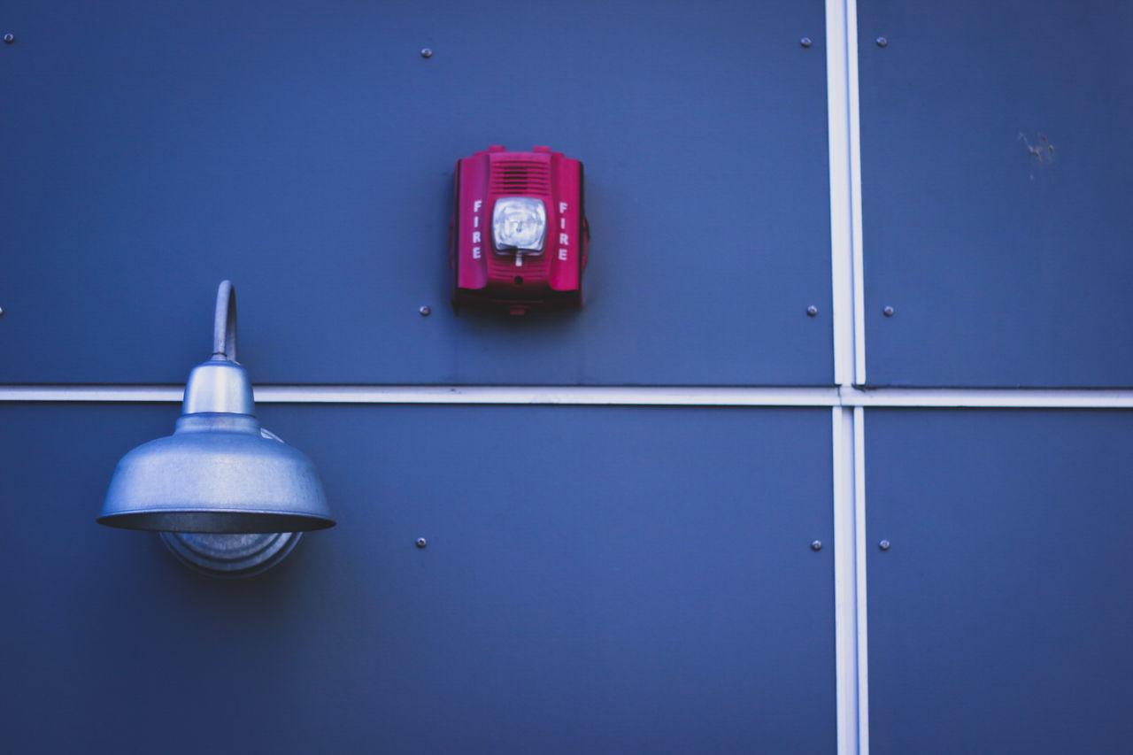 Fire No People Close-up Alarm Wall Contrast Sunnydays City