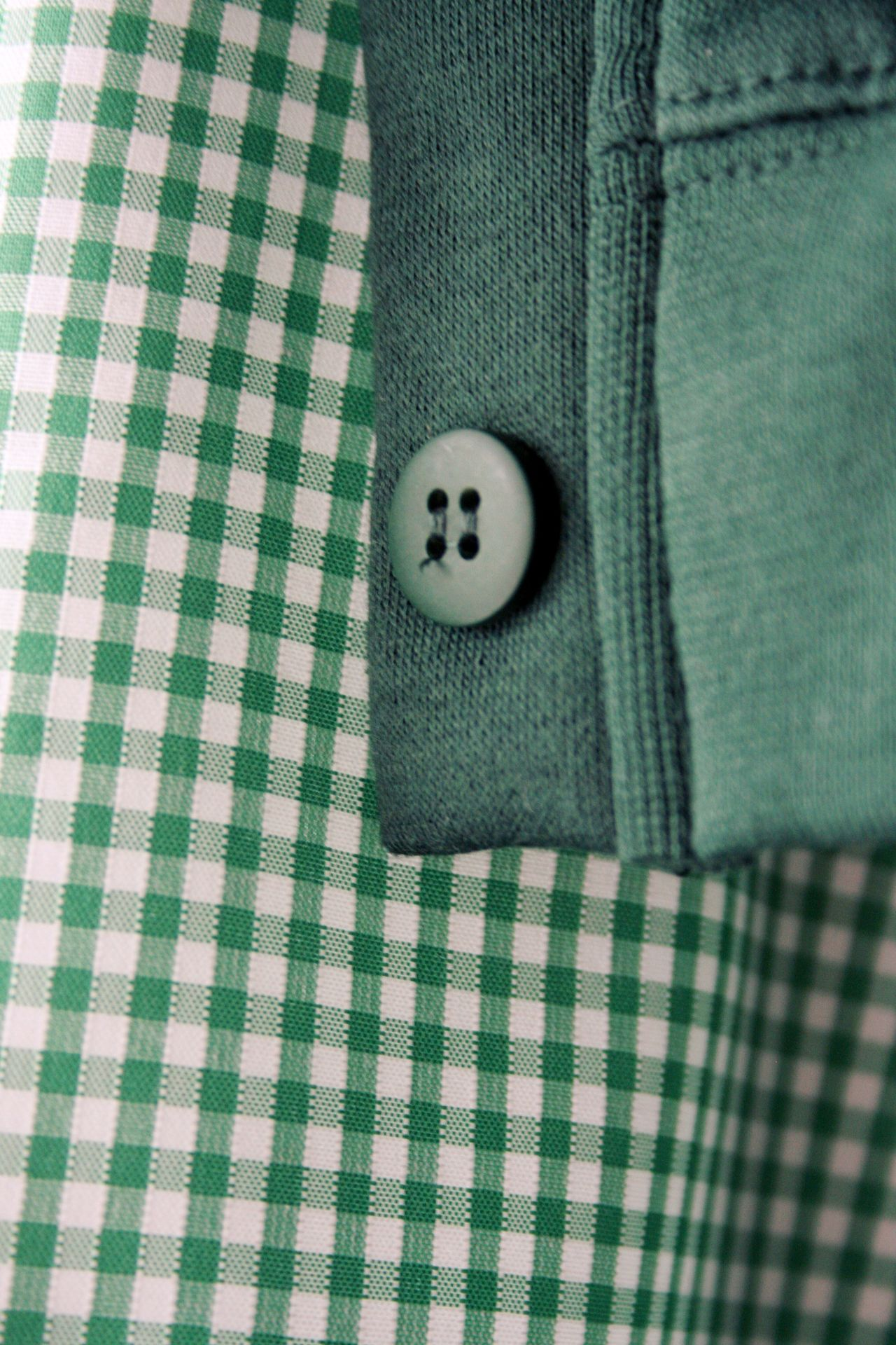 Backgrounds Button Close-up Clothing Extreme Close Up Fabric Full Frame Gingham Green Color No People Part Of School School Uniform School Uniforms  Textile The Color Of School