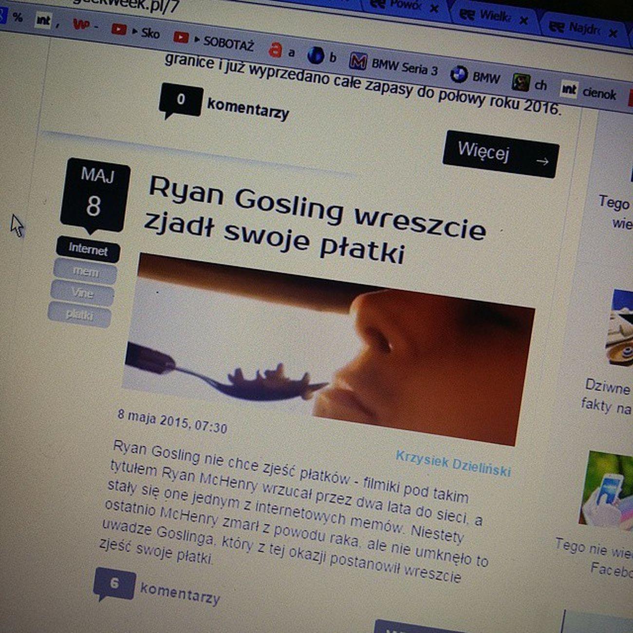 O Ja Pierdole Internet Taki Ciekawy Płatki Geekweek Ciekawostki Nowinki Ryan Gosling Zjadł Nudy Japitole